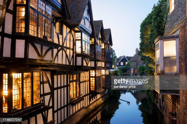 old weavers house, great stour, canterbury, england - kent county stock pictures, royalty-free photos & images