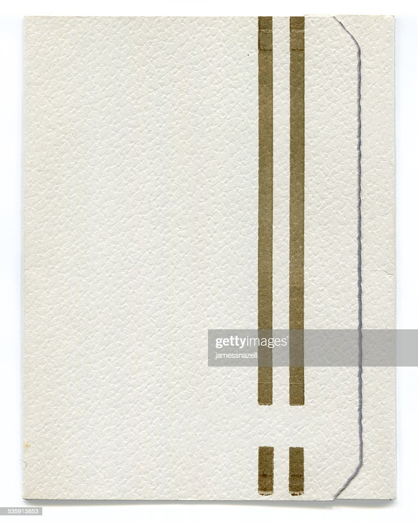 Antigua invitación de boda blanco (incluidos trazado de recorte) : Foto de stock