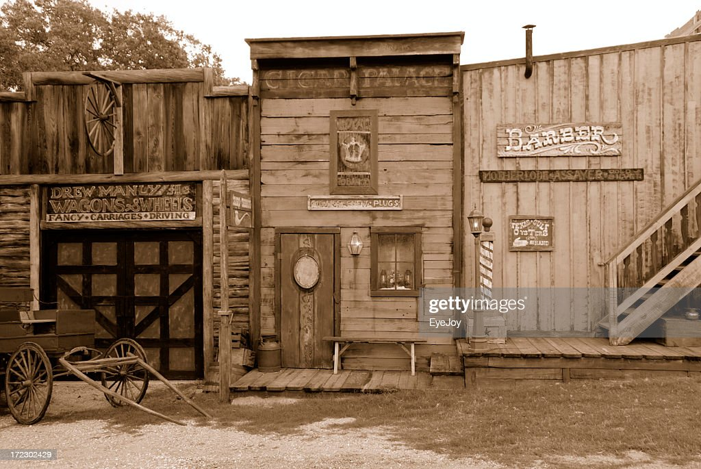 old west saloon and barber shop stock photo getty images