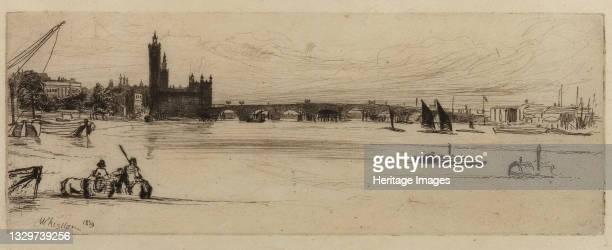 Old Westminster Bridge, 1859. Artist James Abbott McNeill Whistler.