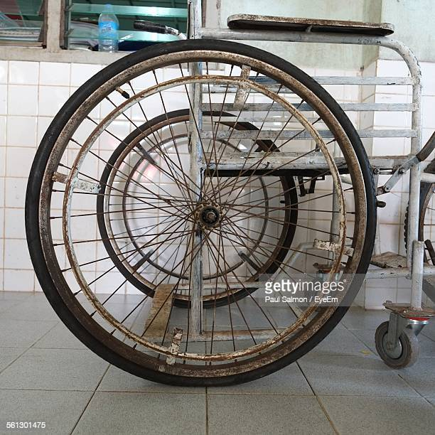 Old Wheelchair In Room