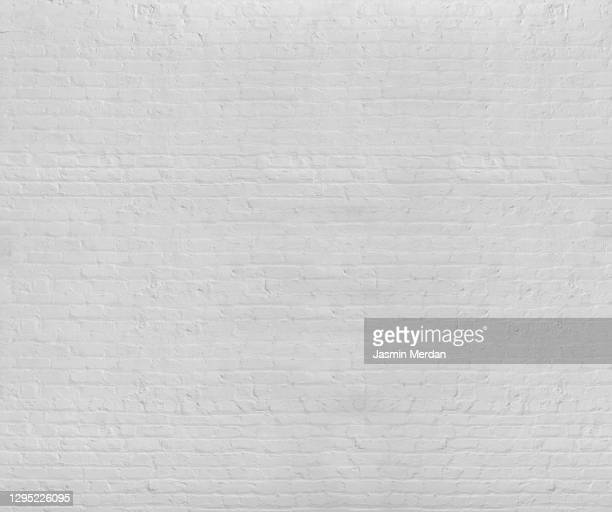 old white brick wall background - brick wall stock pictures, royalty-free photos & images