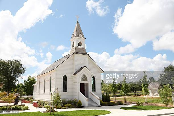 old white church - church stock pictures, royalty-free photos & images