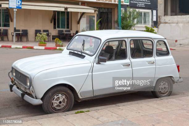 Old white Renault 4 in Rabat