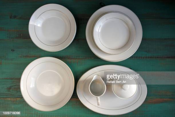 Old  White Tablewear
