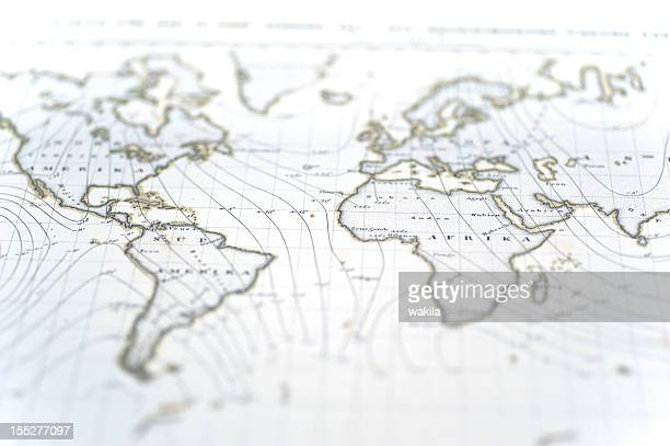 old white worldmap