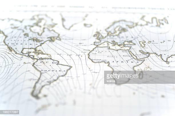 old blanco worldmap - europa continente fotografías e imágenes de stock