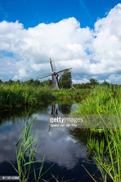 """old windmill in the weerribben-wieden nature reserve - """"sjoerd van der wal"""" stock pictures, royalty-free photos & images"""