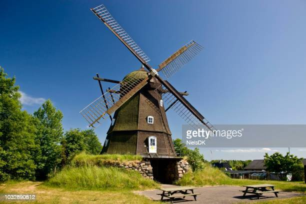 old windmill, melby, denmark - old windmill stock photos and pictures