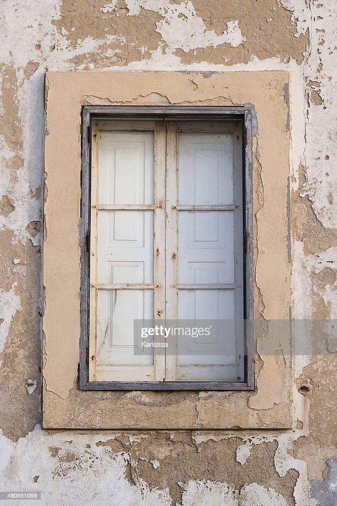 Antiga janela : Foto de stock