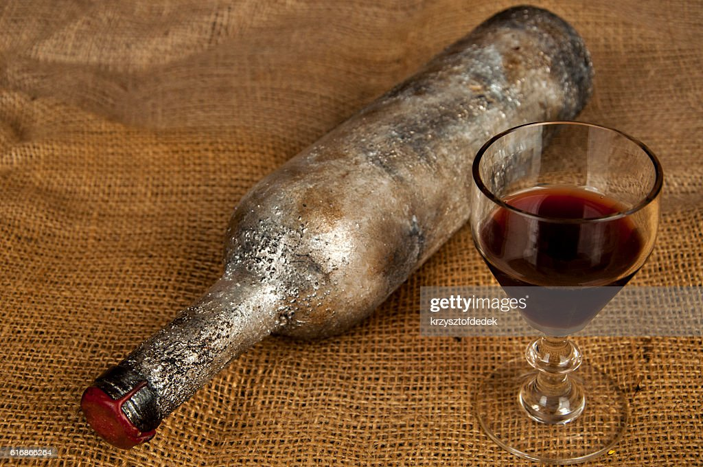 old wine bottle : Stock Photo
