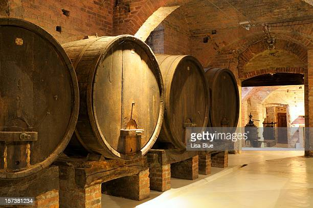 old wine cellar - chianti region stock photos and pictures