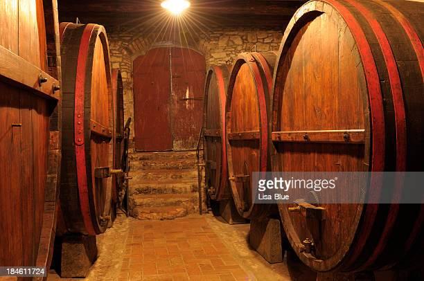 Alte Weinkeller, Region Chianti, Toskana, Italien.
