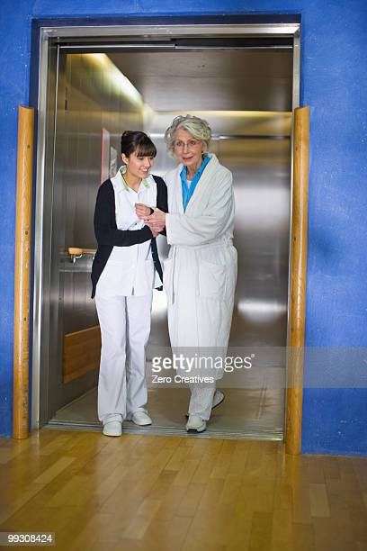 Old woman and nurse
