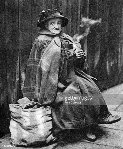 Old woman back of Fleet Street London 19261927 She may have been a descendant of one of the old 'queens' of Alsatia Illustration from Wonderful...