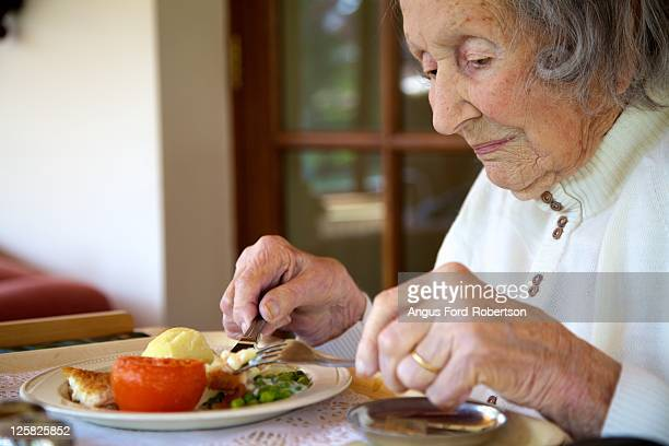 Old woman lunch