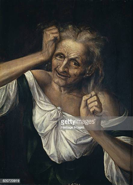 Old Woman Tearing at her Hair Found in the collection of Museo del Prado Madrid