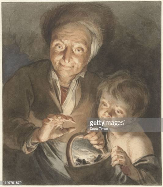 Old woman with child and fire test Jacob de Wit Peter Paul Rubens 1734