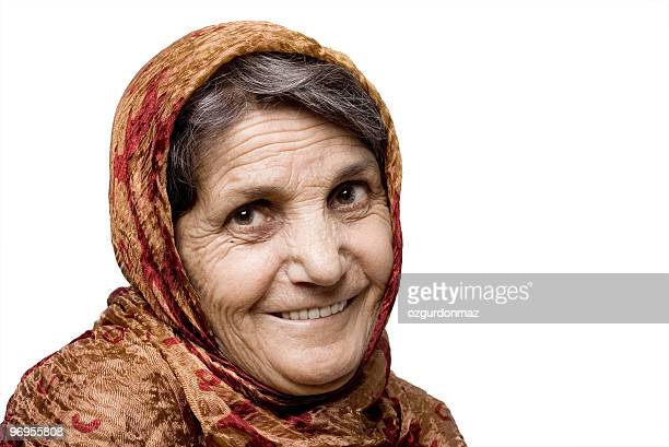 Old woman with headscarf