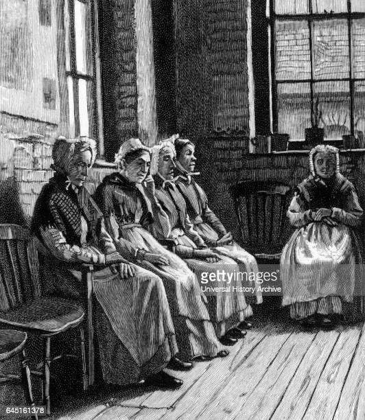 Old women rusting out in a London workhouse 1895