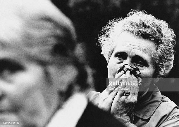 Old women weeping at the funeral of a Czech boy shot by Soviet troops in Prague during the Prague Spring of 1968