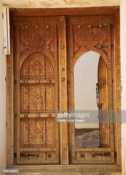 Old wood door in Muscat, Oman.