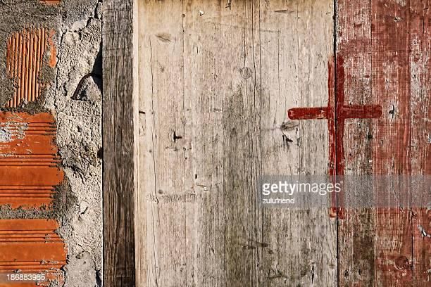 古い木製のドア