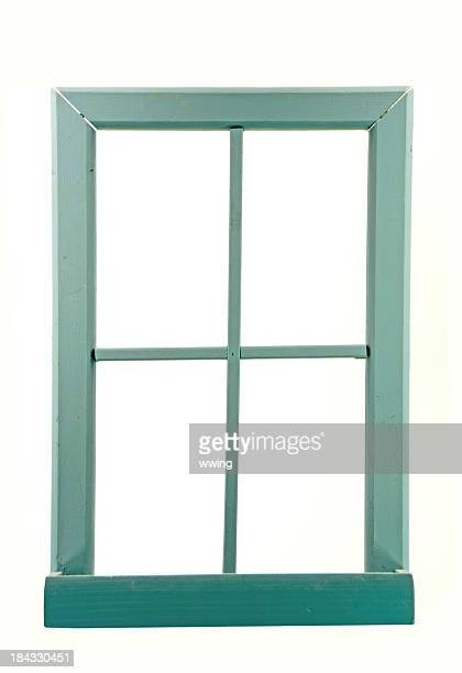 Old Wood Window Frame with Copy