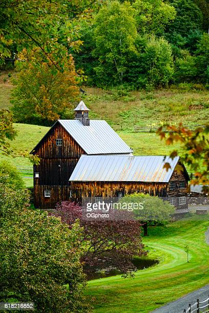 Old wooden barn in rural countryside