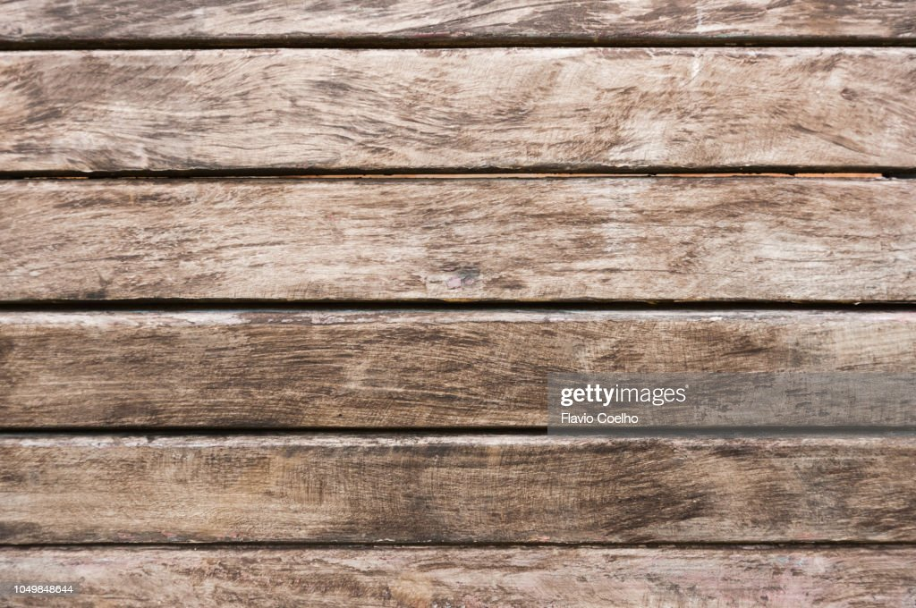 Old Wooden Bench Seat Closeup Stock Photo Getty Images
