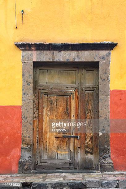 old wooden door - ogphoto stock photos and pictures