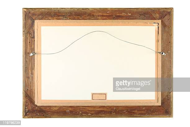 Old Wooden emty Frame CLIPPING PATH