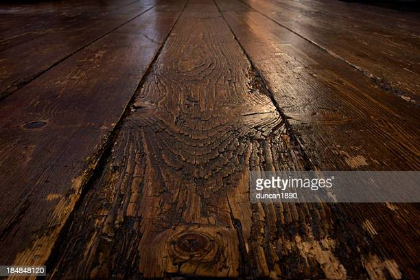 old wooden floor - floorboard stock photos and pictures