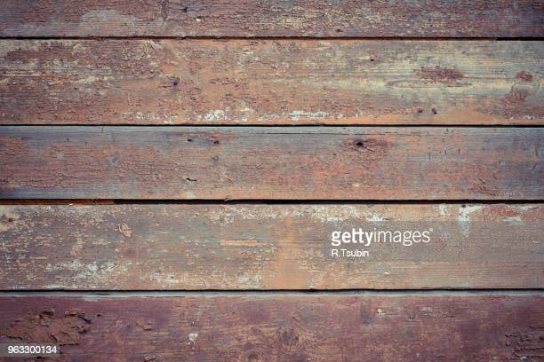 Old wooden painted and chipping paint texture