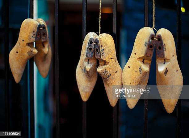 old wooden shoe molds