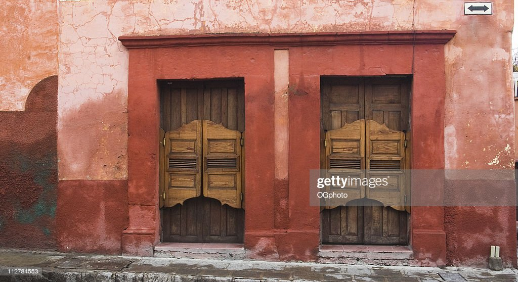 Old Wooden Swinging Doors At A Bar Stock Photo | Getty Images