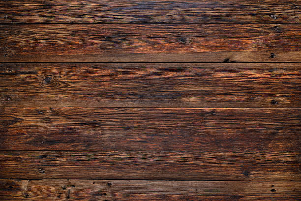 Medium Golden Brown Wood Texture Background Old Wooden Table Rustic Surface With Copy E