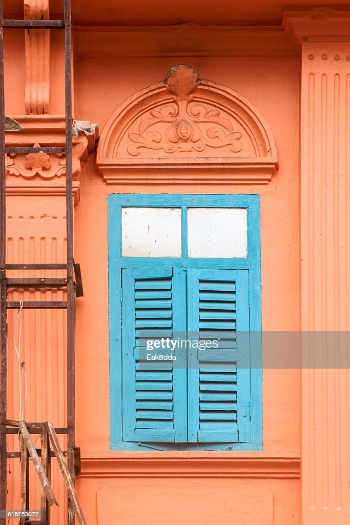 Old wooden windows : Stock Photo