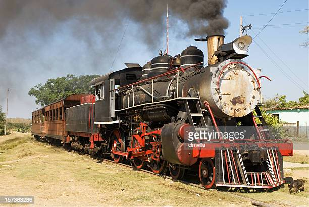 Old working steam train in Cuba