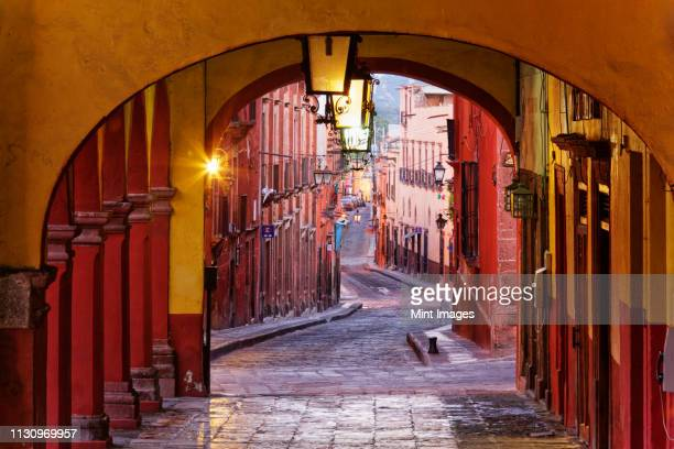 old world colonnade - guanajuato stock pictures, royalty-free photos & images