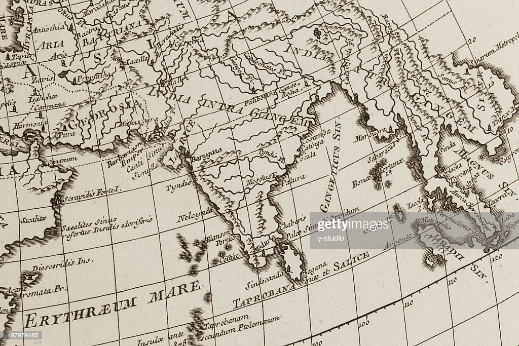 Old world map india stock photo getty images old world map india stock photo gumiabroncs Images