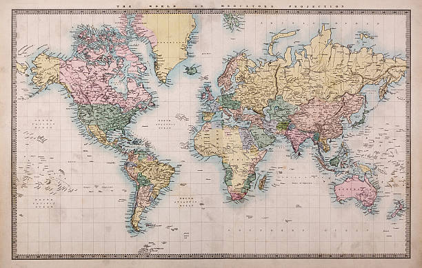 Free vintage world map images pictures and royalty free stock old world map on mercators projection gumiabroncs Gallery