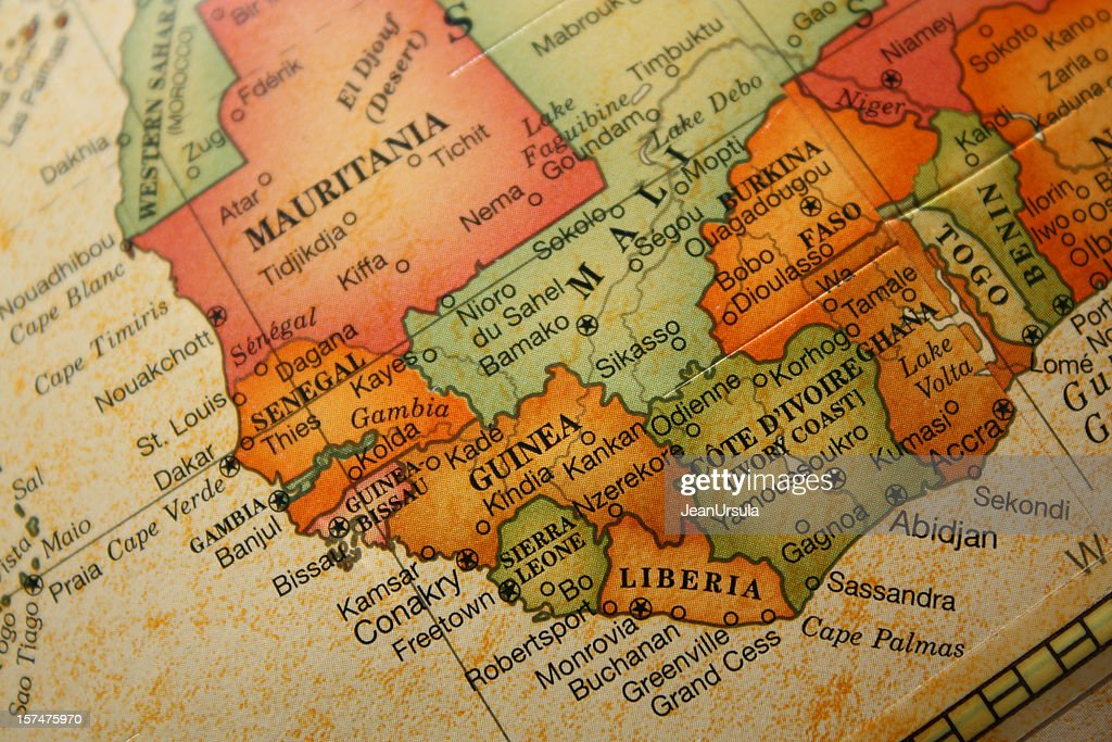 Antiguo mapa mundial : Foto de stock
