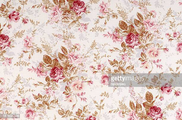 old world rose antique floral fabric - flower wallpaper stock pictures, royalty-free photos & images