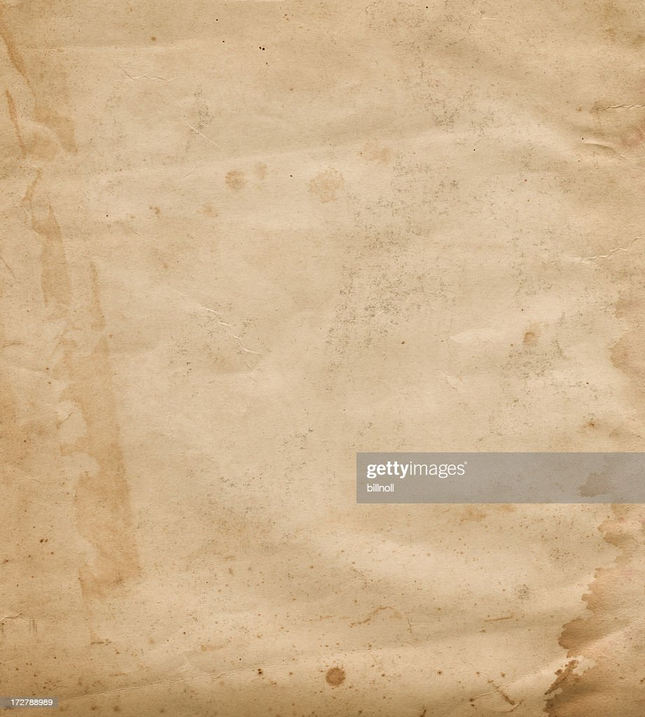 old worn paper with stain : Stock Photo