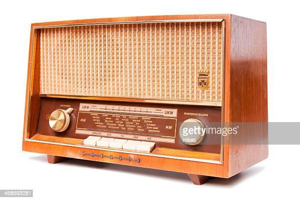 vieux usé radio - grand angle photos et images de collection