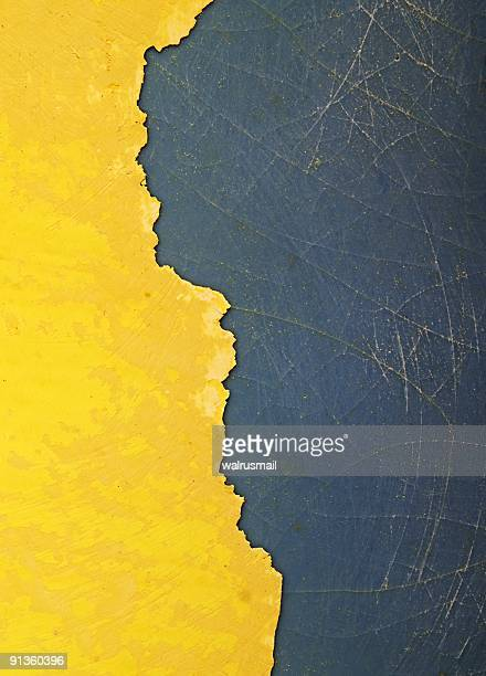 Old yellow paint