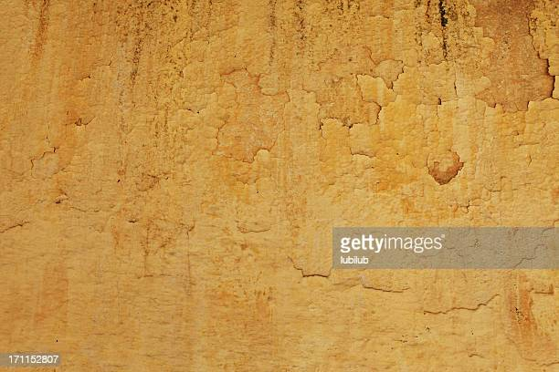 old yellow wall texture from fes, morocco - fresco stock pictures, royalty-free photos & images