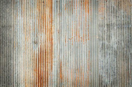 Old zinc texture background, rusty on galvanized metal surface. 954130746