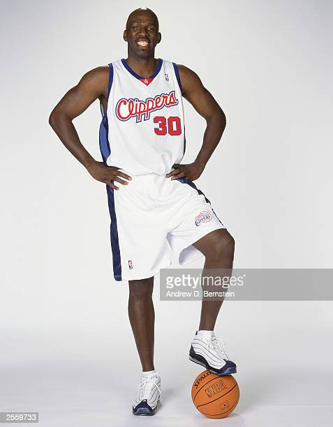 Olden Polynice of the Los Angeles Clippers poses for a portrait during NBA Clippers Media Day in Los Angeles California NOTE TO USER User expressly...